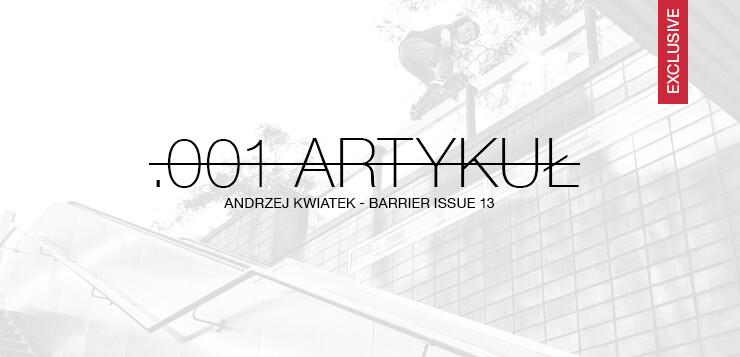 Andrzej Kwiatek – Barrier issue 13